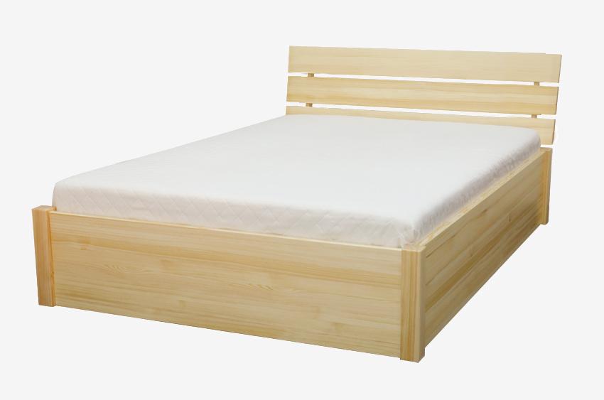 Łóżko drewniane sosnowe Cytryn 2