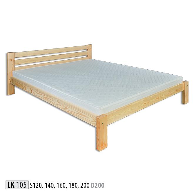 Łóżko drewniane sosnowe - LK105 - LK127