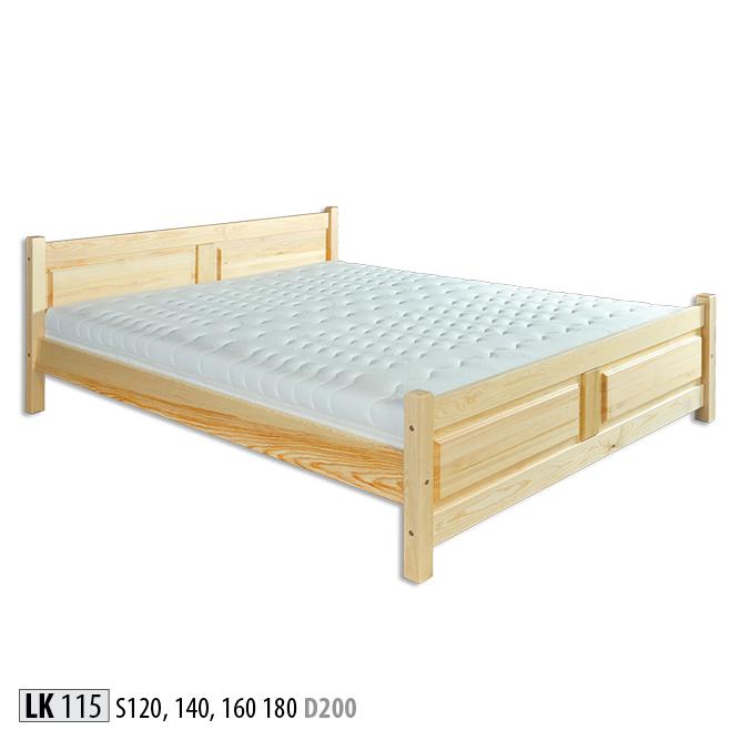 Łóżko drewniane sosnowe LK115
