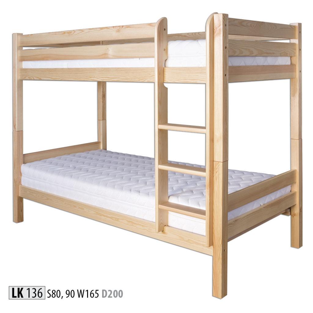 Łóżko piętrowe - LK136