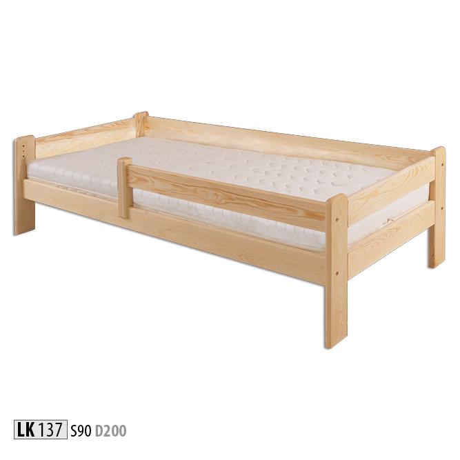 Łóżko dziecięce sosnowe - LK137