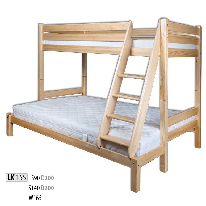 Łóżko piętrowe - LK155