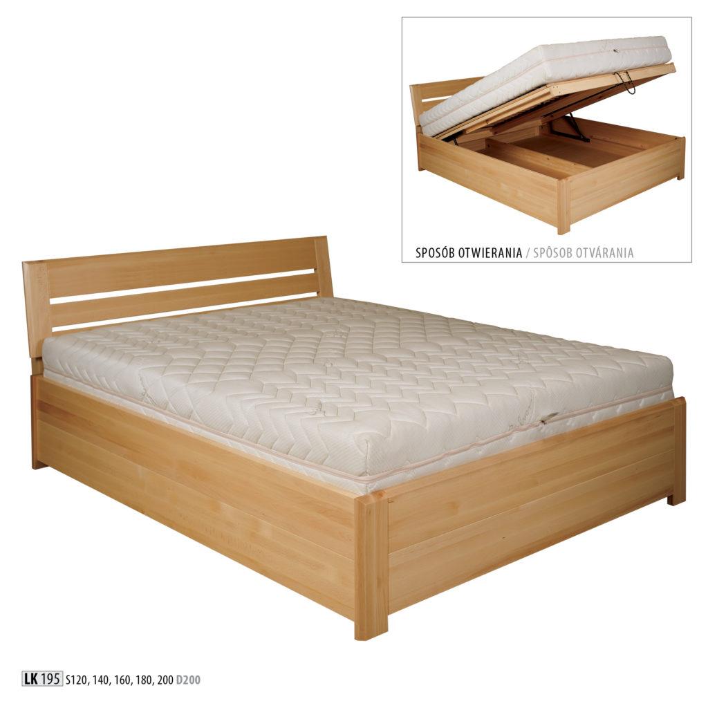 Łóżko bukowe - LK195