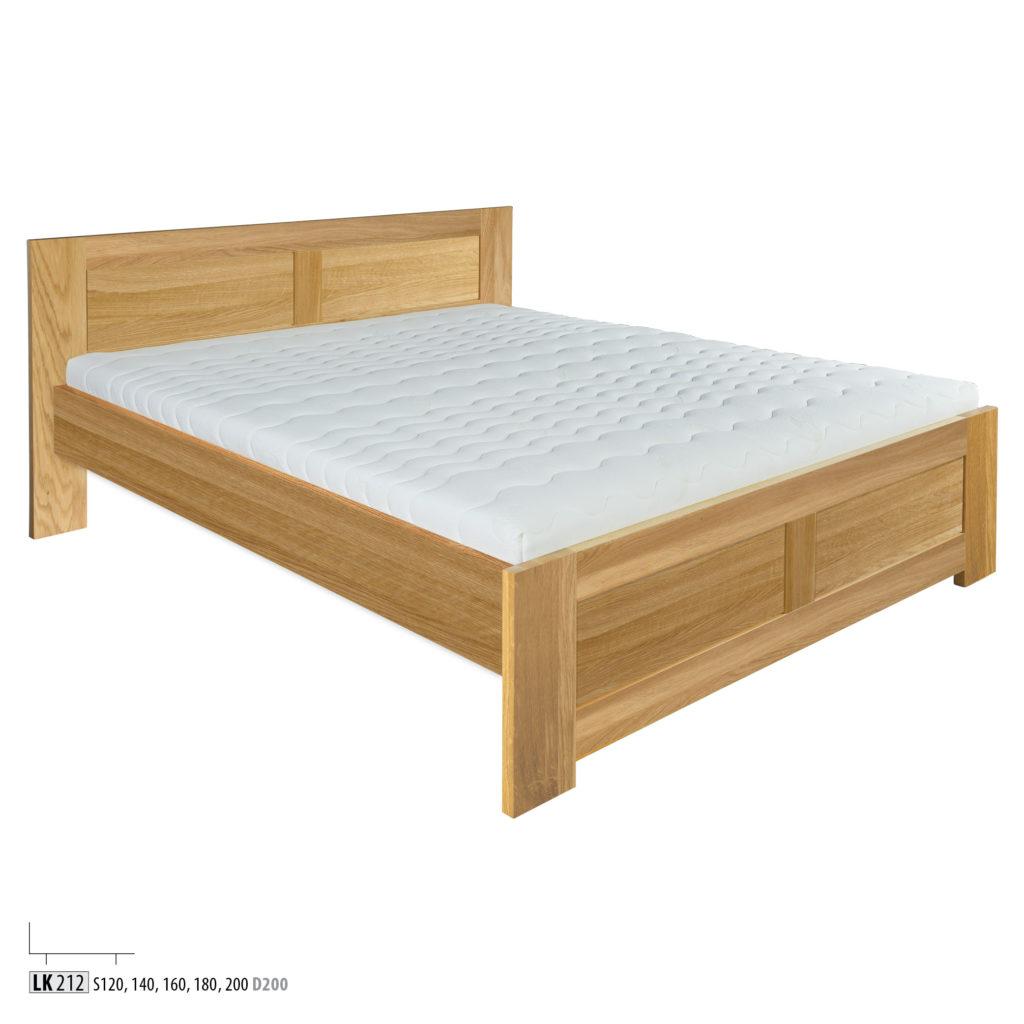 Łóżko dębowe - LK 261 - LK212