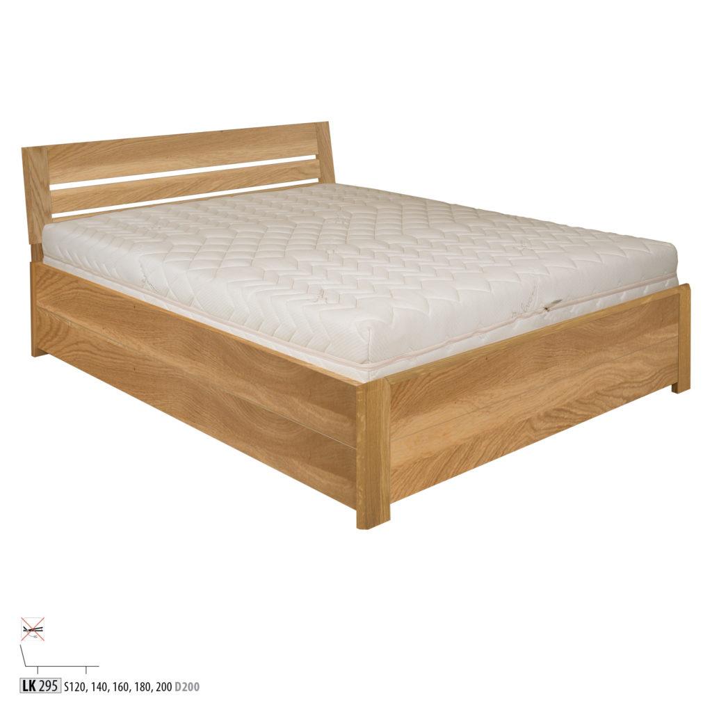 Łóżko dębowe - LK295