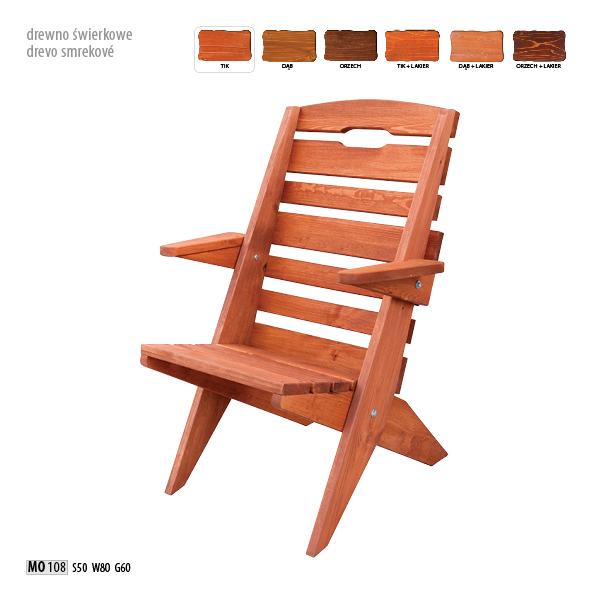 Krzesło z drewna świerkowego- MO108