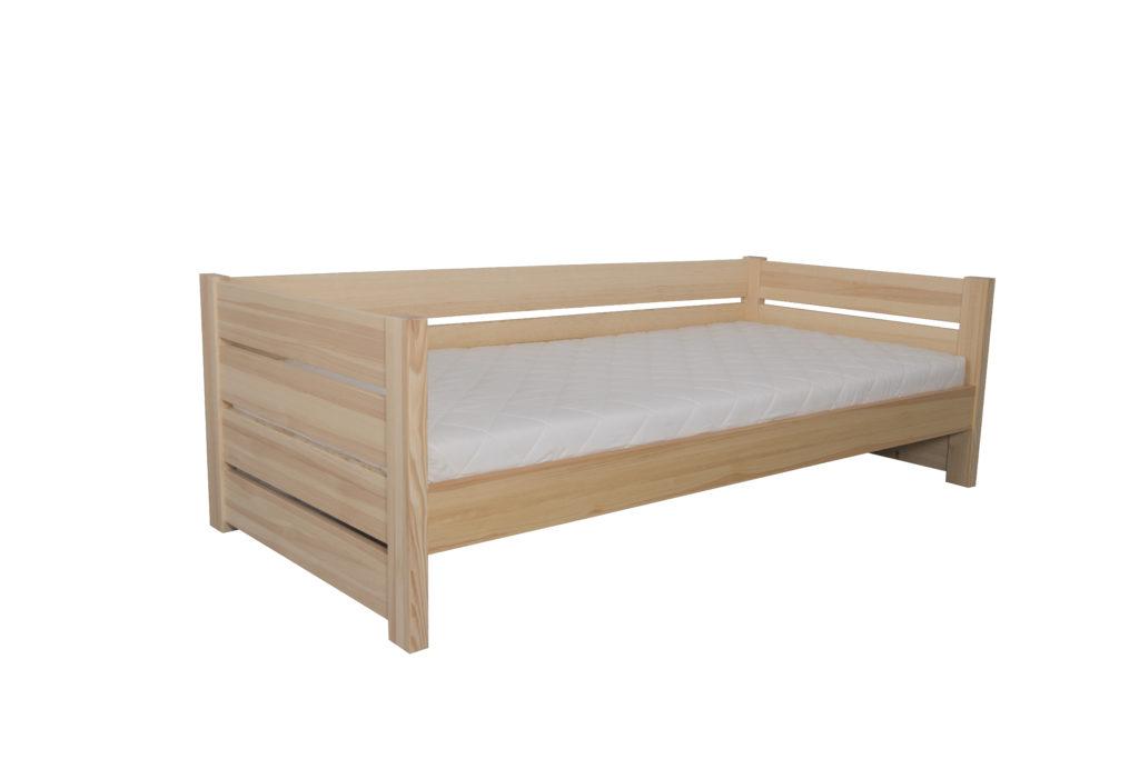 Łóżko dziecięce-młodzieżowe sosnowe AGAT 1