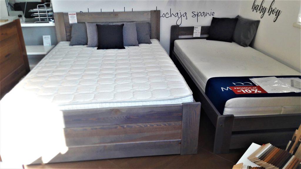 Łóżko drewniane sosnowe LK 102 szare