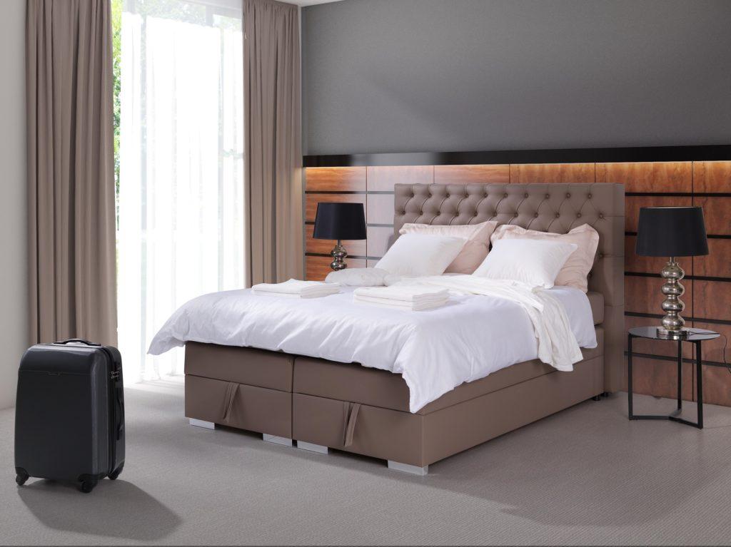 Łóżko tapicerowane kontynentalne LIMONA