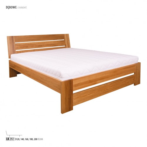 Łóżko dębowe/bukowe LK 292
